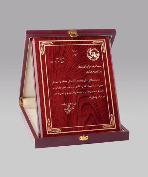 لوح سپاس شوراي مرکز ملي رقابت سال 2010