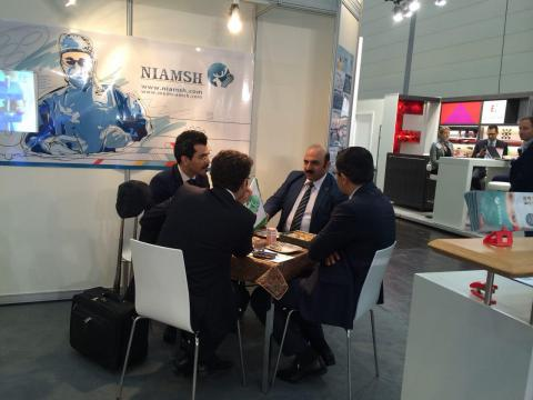 Expo med medical equipment exhibition in Istanbul next to engineer Jargholi, representative of steri