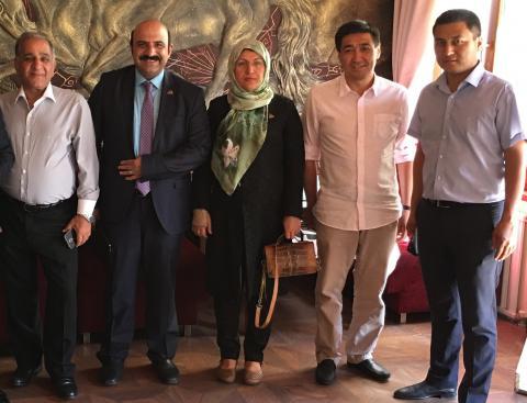 دیداری با وزیر بهداشت قرقیرستان