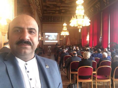 در کنار هیات اقتصادی ایران در شهرداری وین