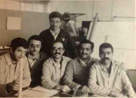 واحد پژوهش و نقشه کشي شرکت کفا سال 1985