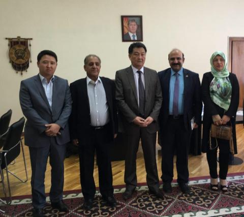 سفر به قرقیزستان در کنار وزیر بهداشت قرقیزستان در شهر بیشکک