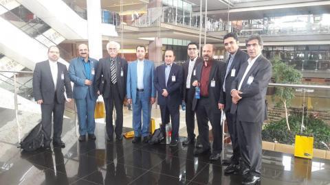 هیات تجاری ایران به همراه وزیر امور خارجه در کشور آفریقای جنوبی در شهر پرتوریا