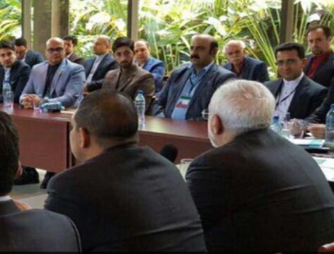 حضور هیت تجاری اقتصادی ایران در کشور نیکاراگوئه در شهر کیتو در کنار وزیر امور خارجه و مسولین جمهوری
