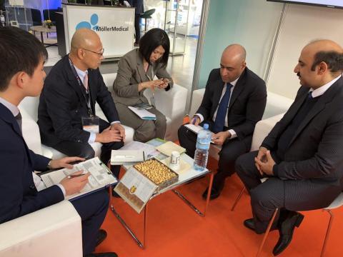 غرفه نیامش در نمایشگاه آلمان مذاکرات با شرکت ژاپنی مبتکر کلین روم های خاص
