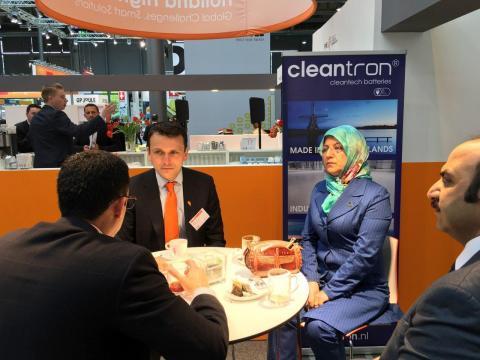 مذاکرات با مدیران شرکت کلین ترون هلند