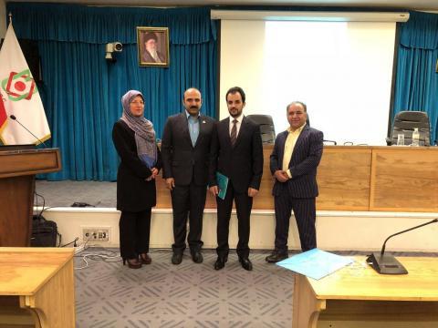 کنفرانس سلامت کشورهای اسلامی در کنار دکتر مجروح از کشور افغانستان